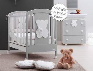 Babybett Funky mit süßem Bären-Relief (63x123 cm)