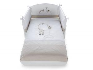 Niedliche dreiteilige Bettgarnitur Savana